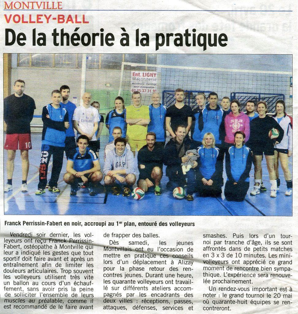 Volley-Ball Montville avec ostéopathe